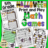 5th Grade Halloween Math Activities: 5th Grade Math Games