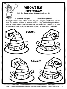 Halloween Activities: Halloween Math Games 1st Grade: Halloween Math Activities