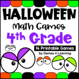 Halloween Math Games 4th Grade with Spiders, Ghosts, Bats and More