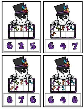 Halloween Math Games:  Numbers 1-10