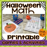 Halloween Math Games & Printable Activities KINDERGARTEN, 1ST GRADE, PREK