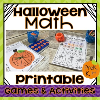 picture relating to Printable Math Games for 1st Grade titled Halloween Math Video games Printable Pursuits KINDERGARTEN, 1ST Quality, PREK