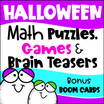 Halloween Math Activities - Games, Puzzles and Brain Teasers