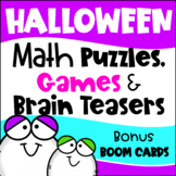 Halloween Math Worksheets, Games, Puzzles and Brain Teasers - October Activities