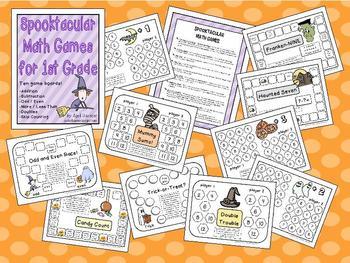 Halloween Math Games – Spooktacular Math Games for 1st Grade