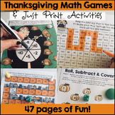Thanksgiving Math Games and Activities
