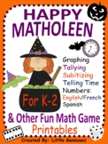 Halloween Math Games for Kindergarten to Grade Two