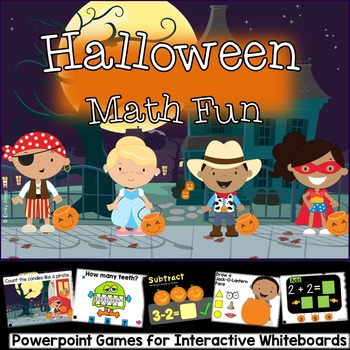 Halloween Math Games for Smart Board and Interactive White