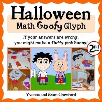 Halloween Math Goofy Glyph (2nd Grade Common Core)