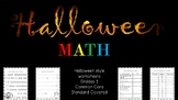 Halloween Math Grade 1 - 3 {Common Core Standard Covered}