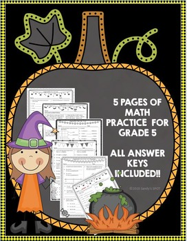 Halloween Math Grade 5 Virginia SOL and CCSS Aligned