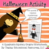 Halloween Math Graphing Coordinates Plotting Points on Four Quadrants