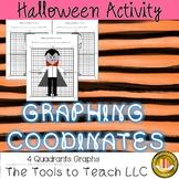 Halloween Math Graphing Coordinates Plotting Points on Four Quadrants