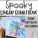 Halloween Math Graphing Linear Equations Spiderwebs