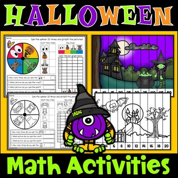Halloween Math Graphing Skip Counting Puzzles