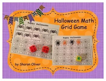 Halloween Math Grid Game