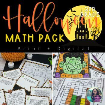 Halloween Math Activities: Halloween Math Graphs,Halloween Math Problems & MORE!