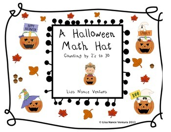 Halloween Math Hat Craft - Skip Counting by 2