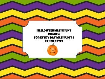 Halloween Math Hunt-EDM Unit 1-Grade 4