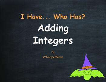 Halloween Math: I Have, Who Has - Adding Integers