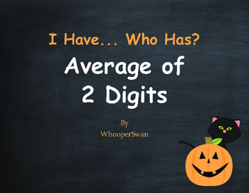Halloween Math: I Have, Who Has - Average of 2 Numbers
