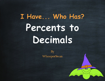 Halloween Math: I Have, Who Has - Percents to Decimals
