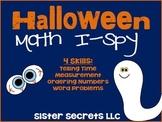 Halloween Math I-Spy Task Cards