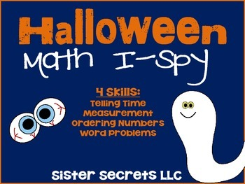 Halloween Math I-Spy Task Cards