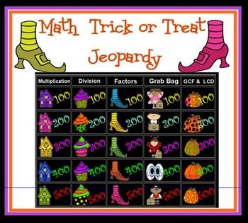 Halloween Math Jeopardy