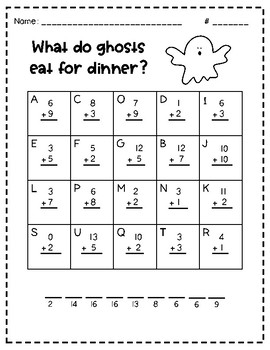 halloween math jokes addition to 20 by anna mckay tpt. Black Bedroom Furniture Sets. Home Design Ideas