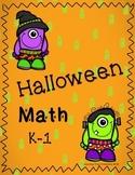 Halloween Math K-1st grade