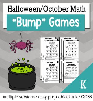 Halloween Math Kindergarten Bump Games Bundle