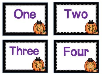 Halloween Math: Kindergarten Counting, Matching and Adding
