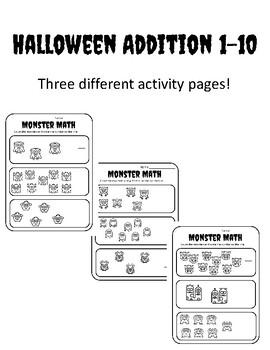 Halloween Math Kindergarten Number 1-10 Halloween Kindergarten Counting to ten