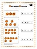 Halloween Math Activities Kindergarten CCSS Aligned