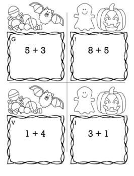 Halloween Math Kindergarten Scavenger Hunt Game Bundle