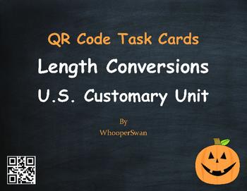 Halloween Math: Length Conversions U.S. Customary Unit QR