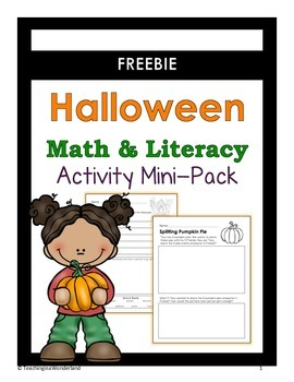 Halloween Math & Literacy Activity Mini-Packet