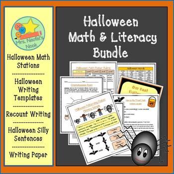 Halloween Activities Math and Literacy Bundle