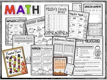 Halloween Math & Literacy Bundle - 5th Grade