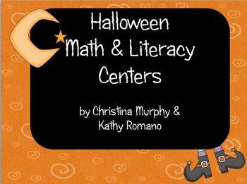Halloween Math & Literacy Centers