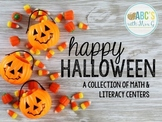 Halloween Math & Literacy Centers