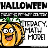 Halloween Math Literacy Centers Craft