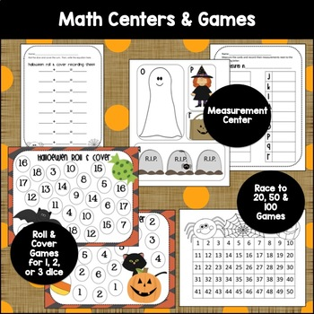 Halloween Math & Literacy Centers {Differentiated CCSS Activities for K-1st}