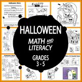 Halloween Math and Literacy + Haunted House Craft & Writing Activities
