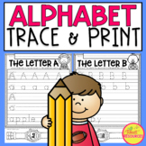 Alphabet Letter Printing Practice Pages with Letter Watches Included!