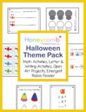 Halloween Math, Literacy & Open Art - Preschool, PreK, Kin