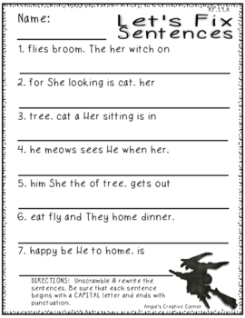 Halloween Math & Language Arts Worksheets for 1st Grade | TpT