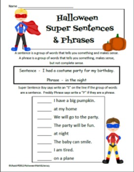 Halloween Math, Literacy, and Science for common core ss