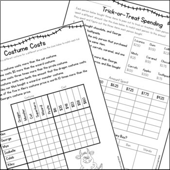 Halloween Math Logic Puzzles {Halloween Activities for Grades 4 and up}
